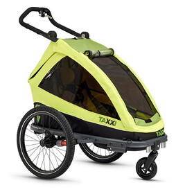 s'cool taXXi Elite Bike Trailer for One green